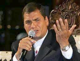 Quieren a la brava que se vaya el Presidente, expresó Correa.