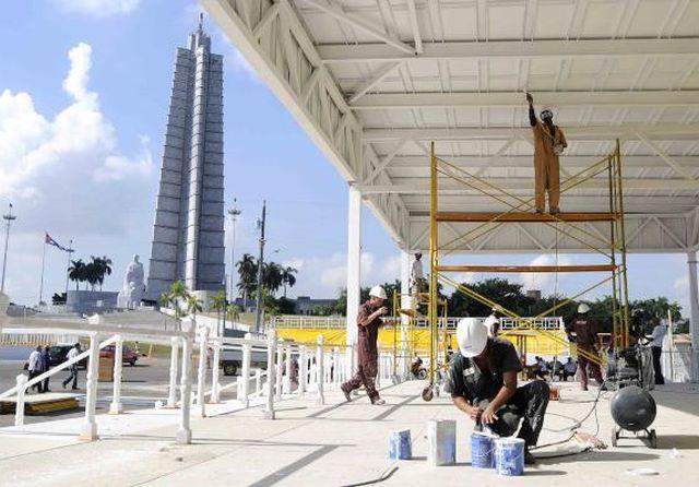 cuba, plaza de la revolucion, papa francisco, visita del papa a cuba