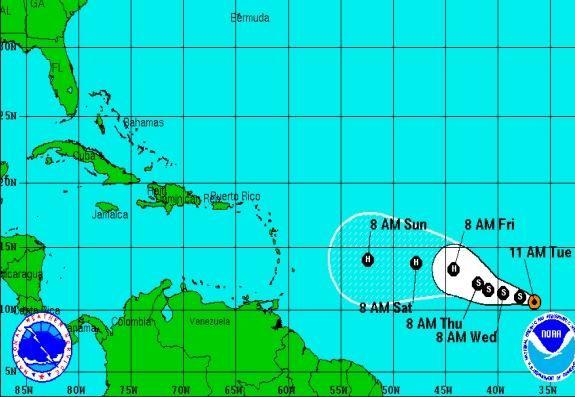 pronostico del tiempo, tormenta tropical danny, cuba