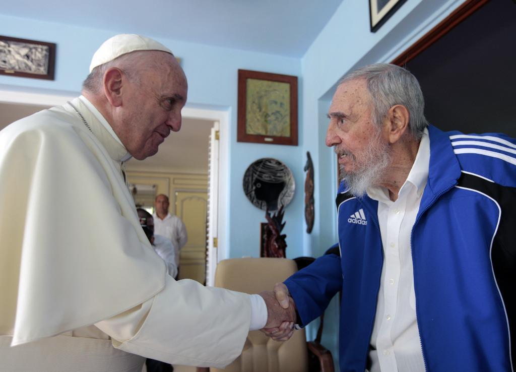 Encuentro del Papa Francisco con el líder de la Revolución Fidel Castro.
