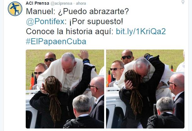 Mensaje en la cuenta de twitter de ACI Prensa.