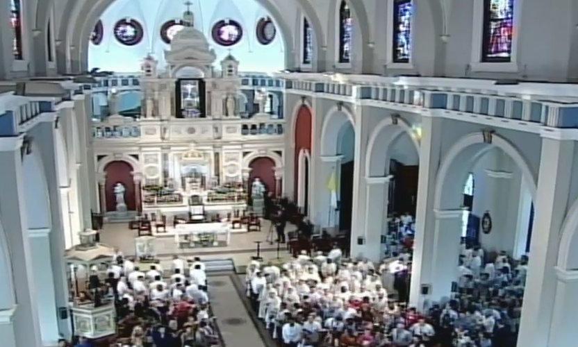 Santuario mientras hace su entrada el Papa Francisco. (Foto: ACI Prensa)