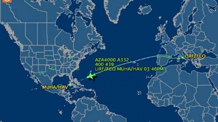 Itinerario del vuelo papal. Se estima la llegada a Cuba sobre las 3:45 p.m, hora local.