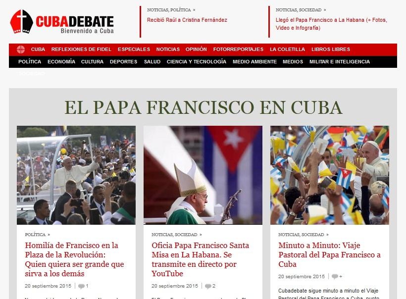 Medios nacionales reseñan la misa de La Habana.