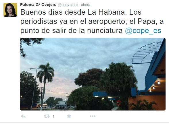 Tuit de Paloma G. Ovejero.