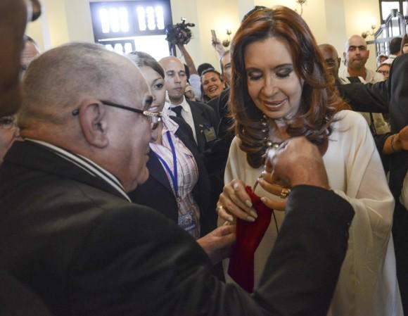 Presidenta de Argentina en el Hotel Nacional de Cuba. (Foto: Kaloian Santos / Cubadebate)