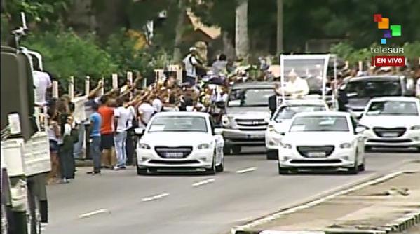 El Papa recibe el cariño de Cuba.