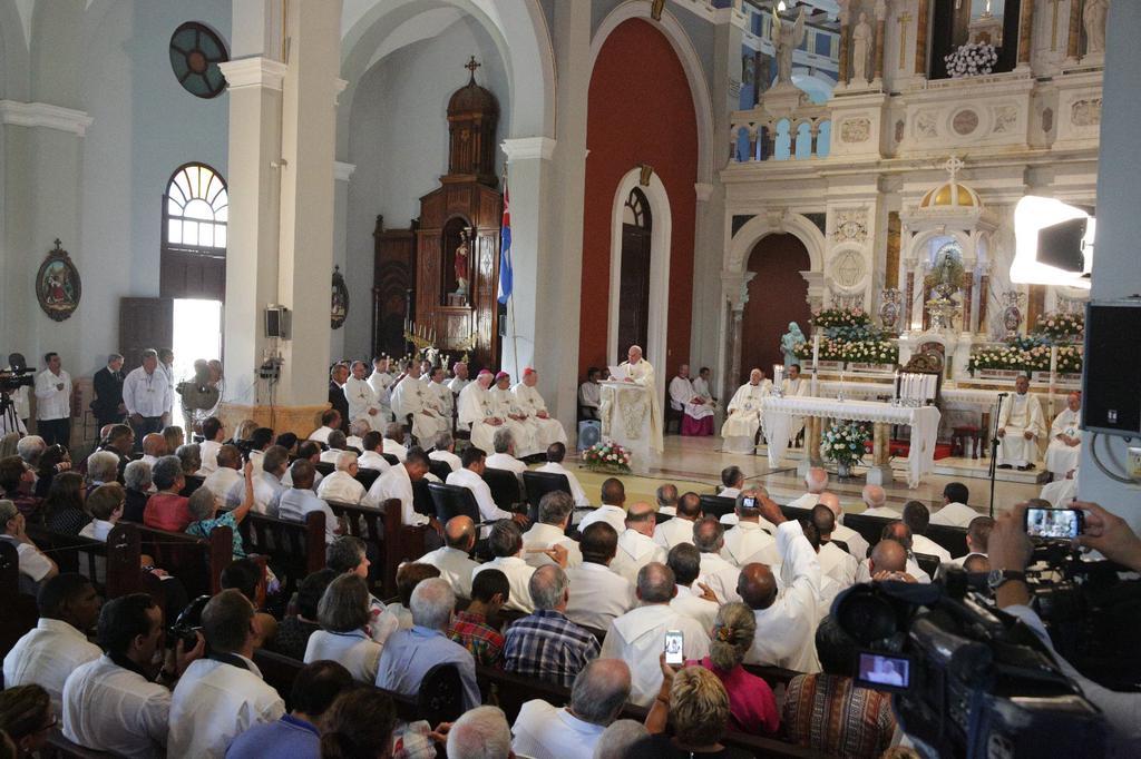 Papa Francisco oficia la útlima de sus misas en Cuba. (Foto: ACI Prensa)