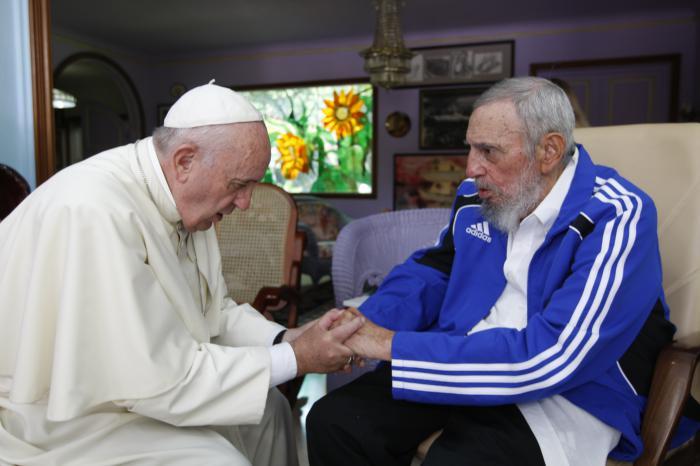 Encuentro del Papa con Fidel Castro. (Foto: Alex Castro)