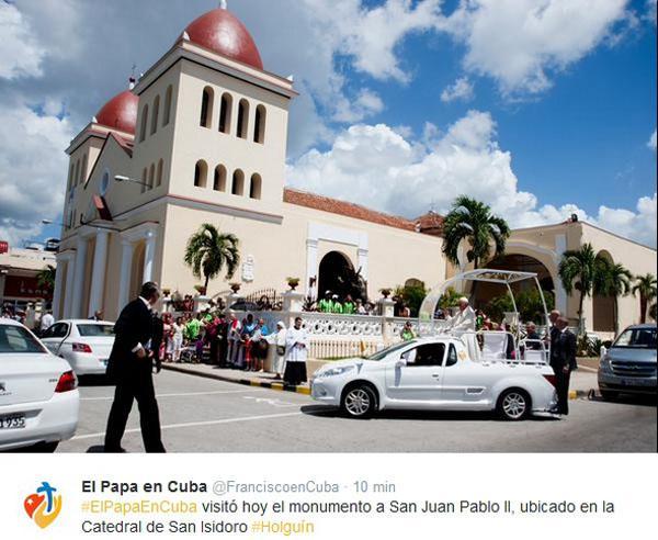 El Papa Francisco visita la Catedral San Isidoro de Holguín.
