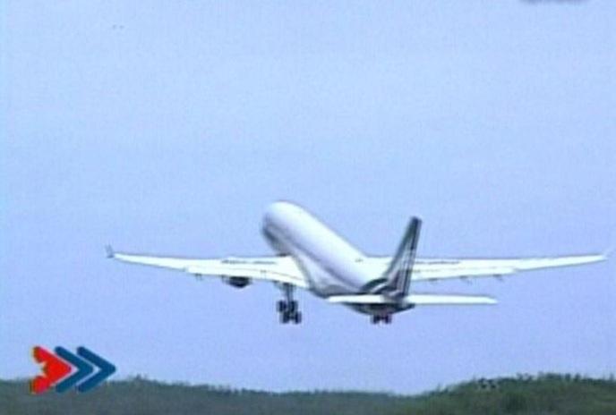 Avión de Alitalia rumbo a Estados Unidos. (Foto: captura de la TVC)