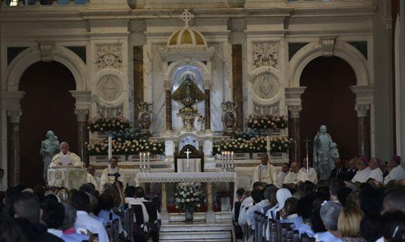 cuba, papa francisco, papa francisco en cuba, santiago de cuba, el cobre, santa misa, virgen de la caridad del cobre, raul castro, vaticano