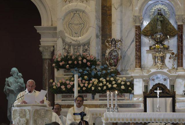 cuba, papa francisco, papa francisco en cuba, el cobre, virgen de la caridad del cobre, santa misa, santiago de cuba, raul castro