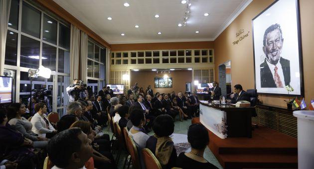 Maduro emitió sus criterios desde la capital china, país con el que Venezuela firmó un plan de desarrollo en conjunto para el período 2015-2025.