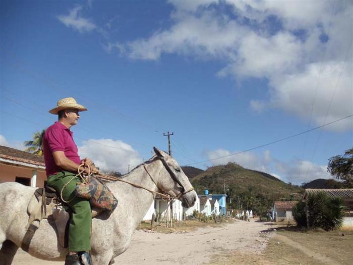 Polo Viejo, una de las comunidades más intrincadas del lomerío espirituano. (Foto: Borrego)