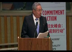 Raúl demandó compromiso y voluntad política para revertir el actual escenarioen cuanto a la equidad de género.