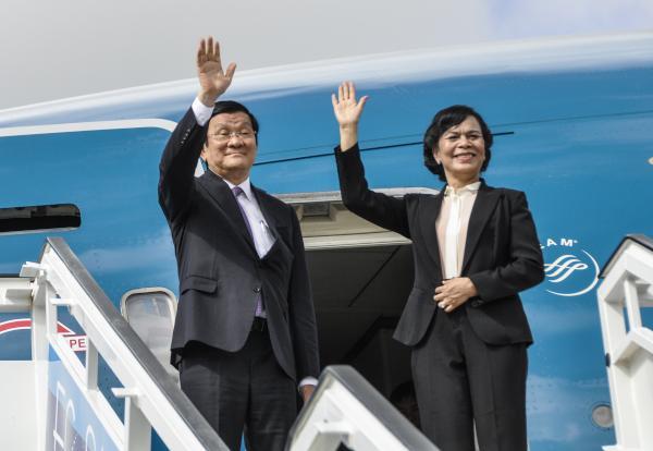 Antes de regresar a mi país deseo trasmitir mis mejores votos y felicitaciones al pueblo cubano, aseguró el presidente vietnamita. (Foto AIN)