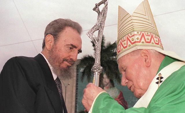 cuba, fidel castro, papa, visita del papa a cuba, santa sede, juan pablo II, papa benedicto XVI, papa francisco,