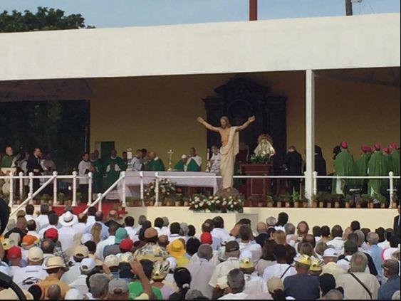 cuba, plaza de la revolucion, misa, papa frencisco en cuba, raul castro