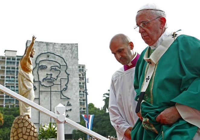 cuba, papa francisco en cuba, misa, plaza de la revolucion, la habana, vaticano, raul castro