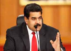 Nosotros somos los agredidos, dijo Maduro.