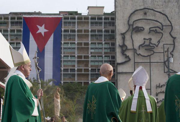 papa francisco, cuba, plaza de la revolucion, misa, para francisco en cuba, raul castro, la habana