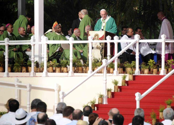 cuba, papa francisco, papa francisco en cuba, plaza de la revolucion, misa, la habana, raul castro