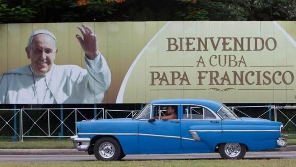Cuba recibe con alegría al Papa Francisco.