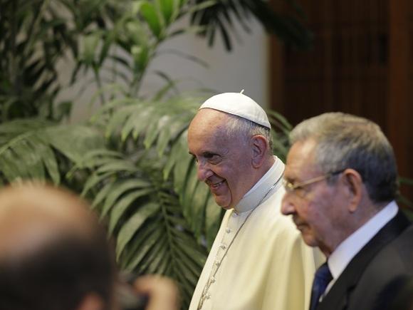 cuba, papa francisco, raul castro, palacio de la revolucion, santo pontifice, papa francisco en cuba, la habana