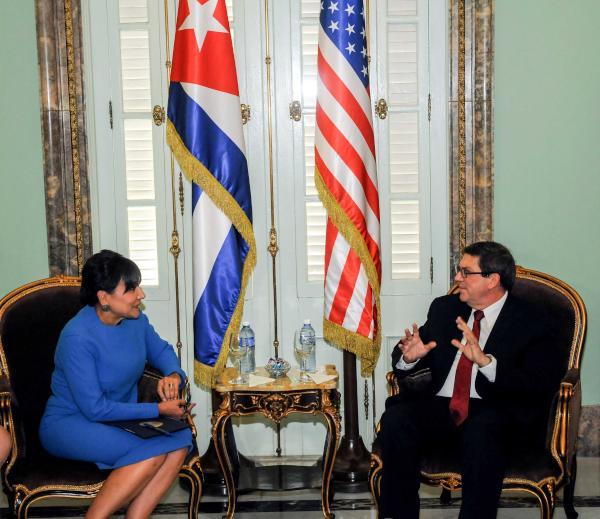 El canciller cubano sostuvo conversaciones oficiales con Penny Pritzker, Secretaria de Comercio de Estados Unidos. (Foto AIN)