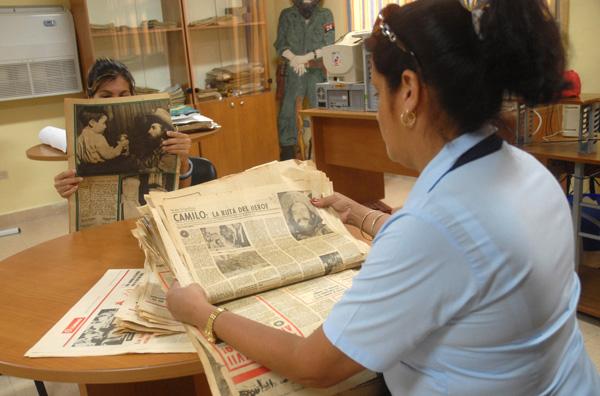 El Complejo Histórico Camilo Cienfuegos atesora un fondo documental de más de 2 mil exponentes. (Foto Oscar Alfonso)