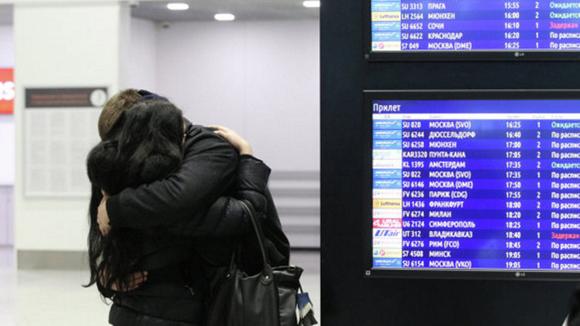 Dolor en el aeropuerto internacional de San Petersburgo. (Foto: Igor Rusak/RIA Novosti)