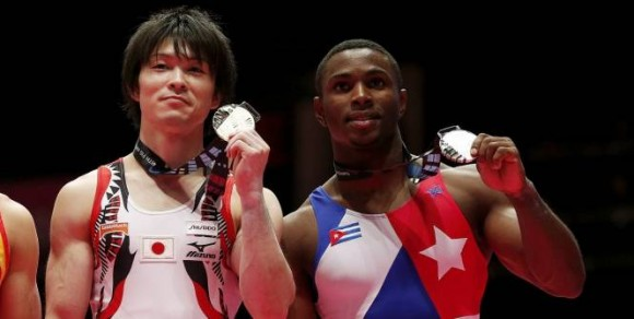 Manrique fue la gran sorpresa del mundial con su Plata en el All Around. (Foto: Reuters)