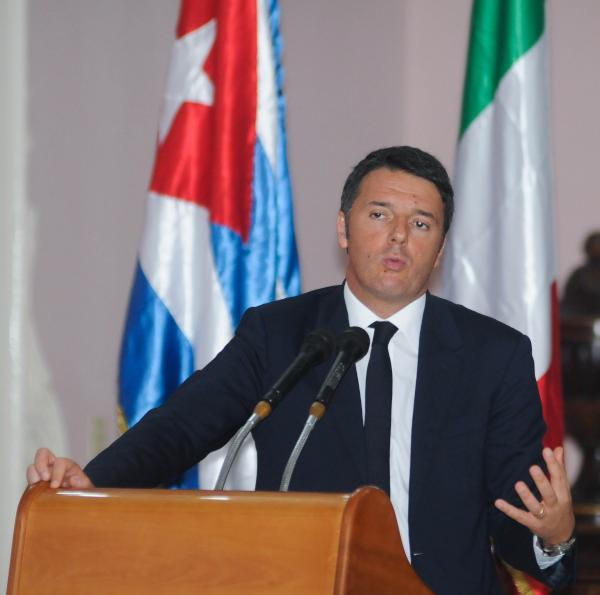 Matteo Renzi durante su intervención en la conferencia realizada en el ISA, en La Habana. (Foto: Abel Padrón/AIN)
