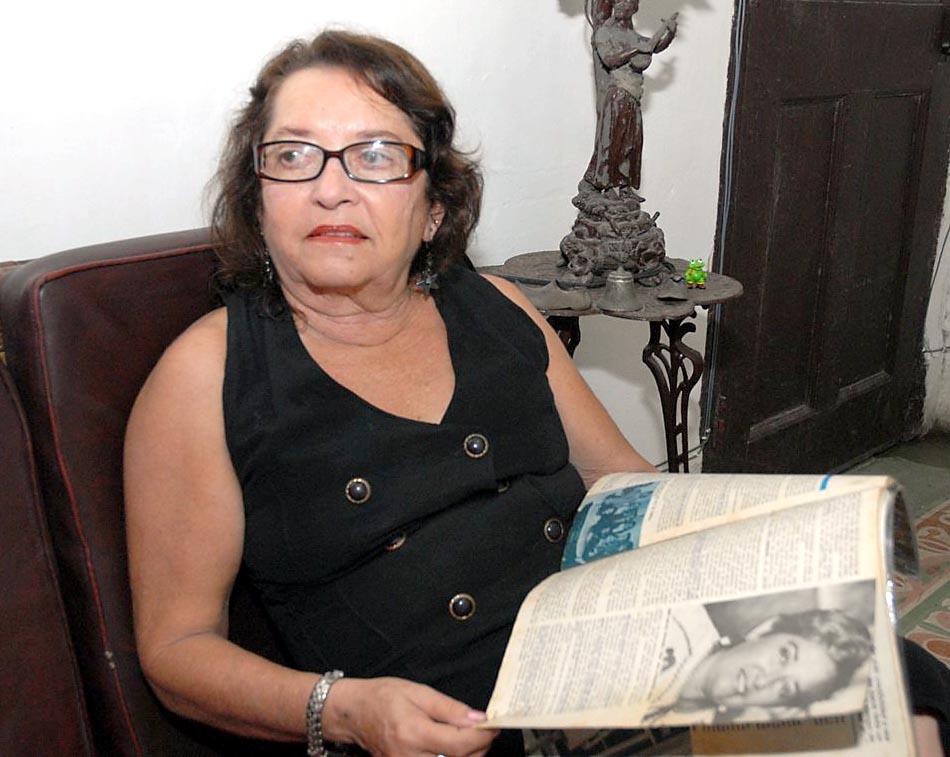 Edith Reinoso en su casa en La Habana en el 2010. (Foto: Vicente Brito)