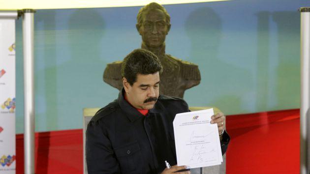 Maduro afirmó que ese gesto representa a millones de hombres y mujeres que quieren paz.