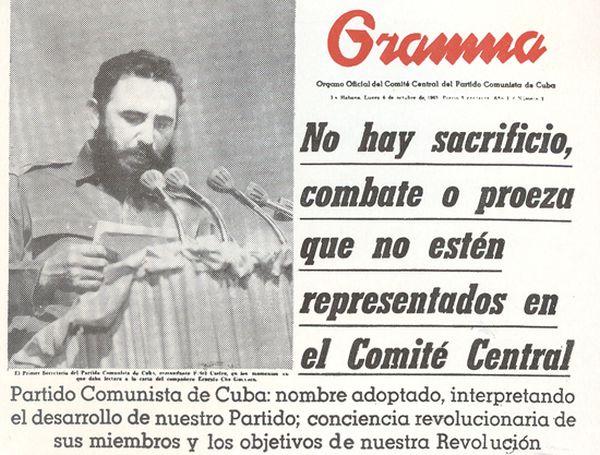 cuba, fidel castro, partido comunista de cuba, pcc, comite central, ernesto che guevara