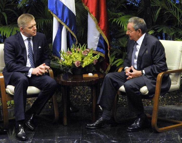 cuba, raul castro, primer ministro de eslovaquia