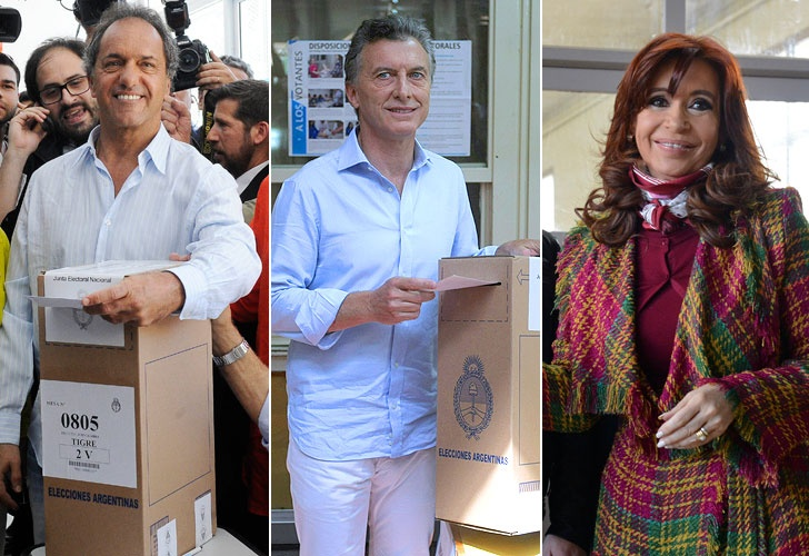 Scioli, Macri y Cristina ya votaron.