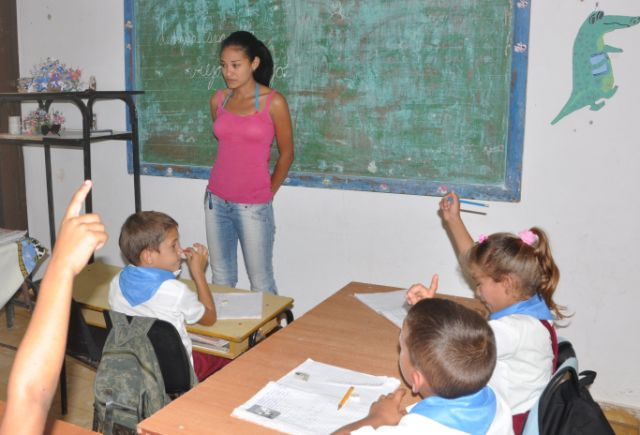fomento, sancti spiritus, educacion cubana, enseñanza primaria, gavilanes, plan turquino