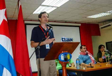Jacob Perasso, representante de la Juventud Socialista de Estados Unidos. (Foto ACN)