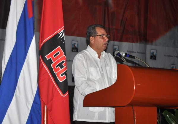 Jose Ramón Monteagudo Ruiz fue reelecto como primer Secretario del Partido Comunista de Cuba en Sancti Spíritus. (Foto Oscar Alfonso)