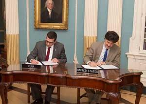 Cuba y EE.UU. firmaron una Declaración Conjunta entre la República de Cuba y los  Estados Unidos de América para la cooperación en materia de protección medioambiental.