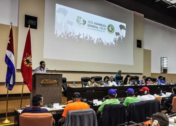 cuba, federacion mundial de juventudes democraticas, fmjd, juventud, ujc, bloqueo de estados unidos contra cuba