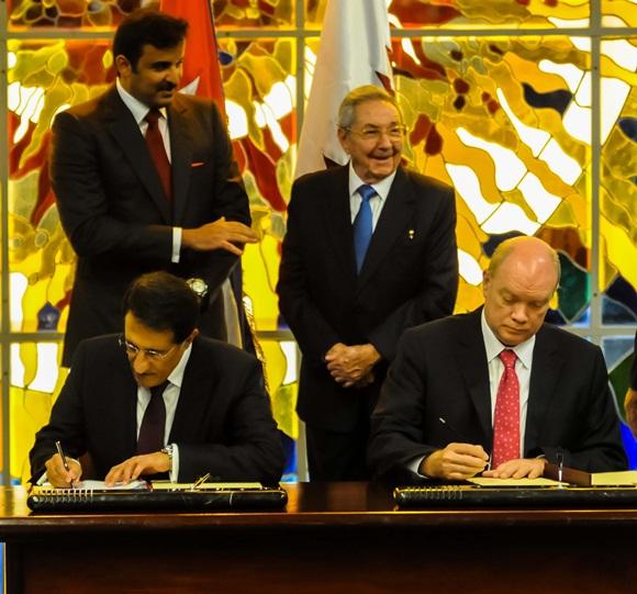 Cuba y Qatar rubricaron acuerdos que facilitarán la cooperación entre esos Estados. (Foto ACN)
