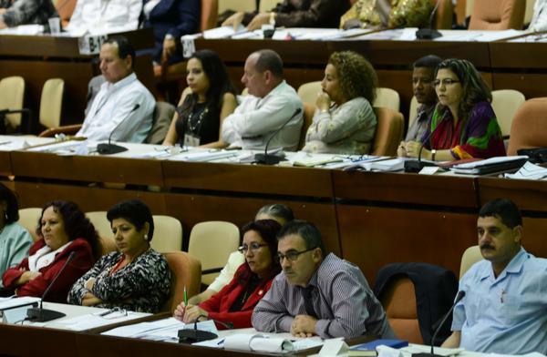 Participantes en el VI Período Ordinario de Sesiones de la Asamblea Nacional del Poder Popular. (Foto ACN)