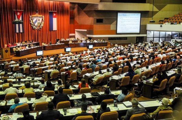 Participantes en la sesión ordinaria del VI Periodo de Sesiones de la VIII Legislatura de la Asamblea Nacional del Poder Popular. (Foto ACN)