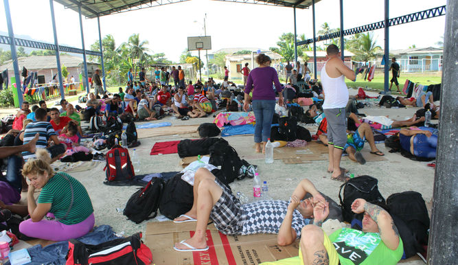 Los migrantes cubanos emprendieron el recorrido alentados por políticas de Estados Unidos.