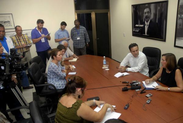 Josefina Vidal ofreció un balance del año transcurrido desde los anuncios de los presidentes Raúl Castro y Barack Obama, el 17 de diciembre de 2014. (Foto ACN)