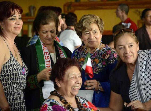 Mujeres de diferentes regiones que participan en la reunión del Secretariado Mundial de la FDIM. (Foto: ACN)